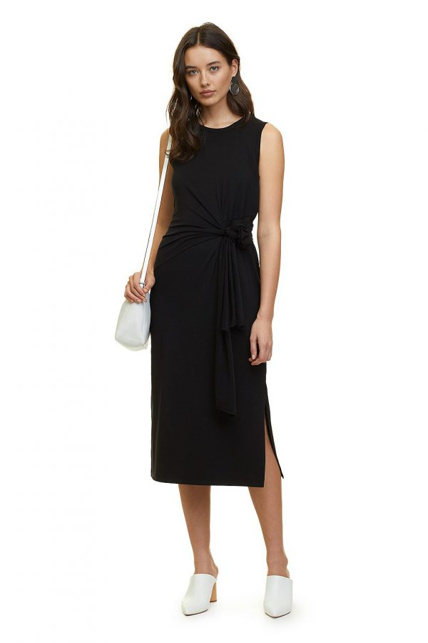 Country Road | Tie Front Jersey Dress $139