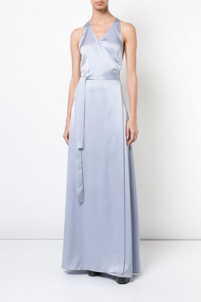 Floor-length Wrap Dress