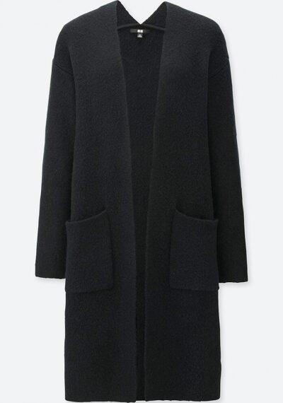 Tweed Knitted Long Sleeve Coat